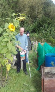 At the Spring to Life allotment