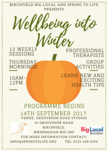 well-being into winter programme poster